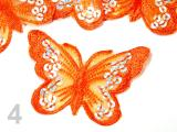 Nažehlovačka BUTTERFLY 55x80mm - Burnt Orange