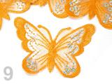 Nažehlovačka BUTTERFLY 55x80mm - Orange